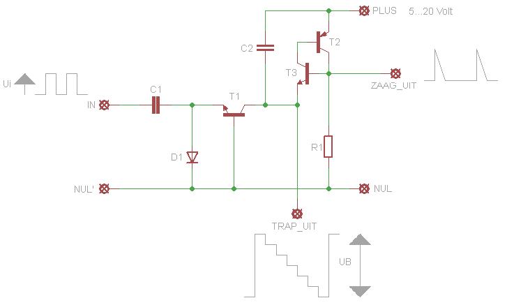 Trapspannings generator voor algemene doeleinden for Trap berekenen formule
